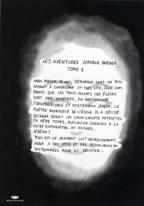 dos de la bd des Aventures d'Anna Parker
